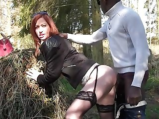 Amy analfucked by a black cock
