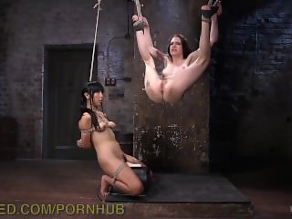 Pretty Girls Tied Together And Tormented