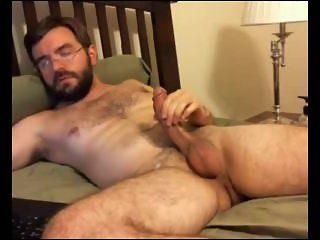 Sexy Hairy Guy Jerks Off & Cums