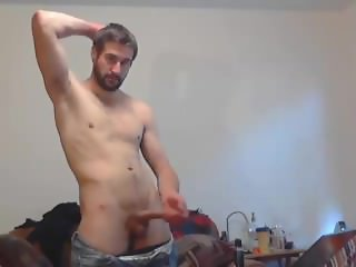 Big Dick White Guy Jerks Off & Cums on Cam