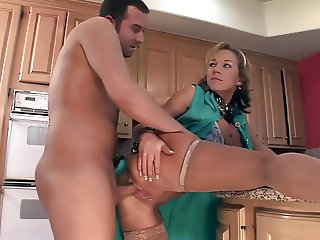 Nikki bound and fucked in sexy nude stockings