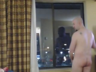 Big cock hotel jerk with Massive Cumshot!