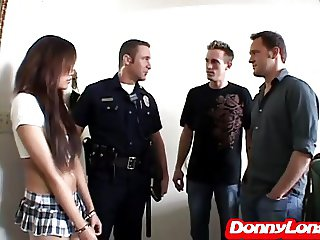 Donny Long streches open tight tiny asian asshole and pussy