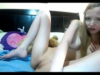 18yo blonde fingering on cam 2