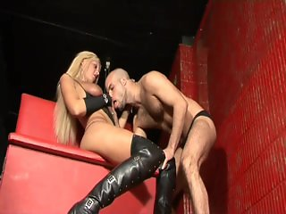 Tranny slut loves anal