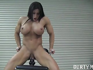 Angela Salvagno Rides A Big Dildo