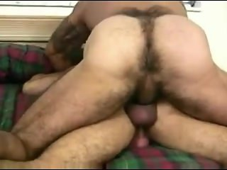 Two Huge Muscle Daddies Take Turns Bareback