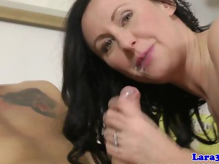 Classy slutty milf loves jizz in her mouth
