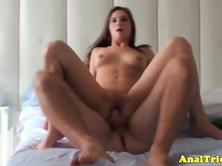 Anal amateur gf jumps on dick with her greedy butthole