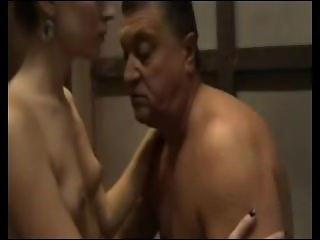 Old Man Fucking,loving And Kissing Sexy Blond Teen german ggg spritzen goo
