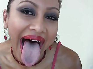 Tongue girl wants you to cum