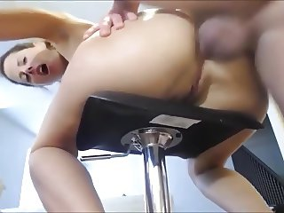 Amateur deep throating and anal