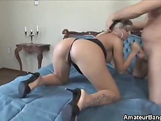 Amateur Fingered, Cock Sucks And Fucked