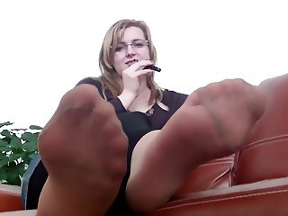 Mrs Teacher and her Nylonfeet 8