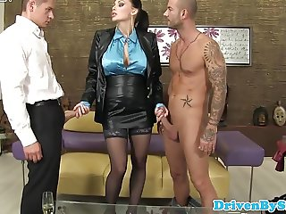 Busty euro slut Aletta Ocean analized in trio
