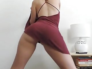 Girl stripping and dancing