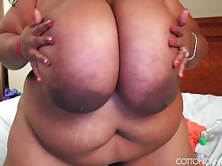 Super Busty Ebony BBW Cotton Candi XXX