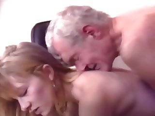 Old dad take photo a fuck young secretary