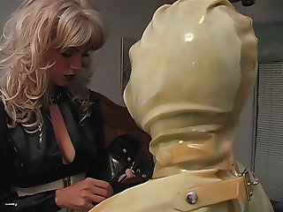Maid slut placed in latex