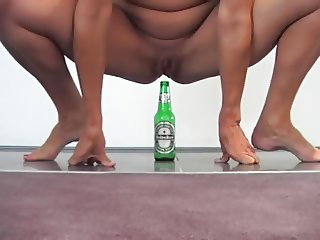 Fucking a Beer bottle