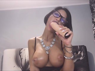Anisyia from Anisyia.com sloppy blowjob secretary cosplay