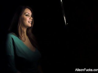 Behind the scenes interview with beautiful brunette Alison Tyler