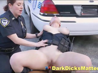 Big Tits Female Cops Sucking Criminal With Huge Black Cock