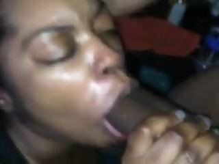Sexy Ebony Freak Sucking Dick Till It Explodes