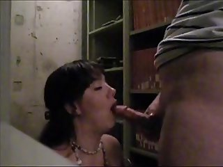 Stolen! Slut almost caught getting fucked in public library!