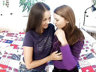 Young girls Dulce and Malin from Sapphic Erotica lesbian