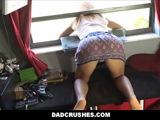 Teen Daughter Stuck In Window Fucked By Step Dad