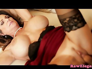 Cock craving busty glamour cougar pounded