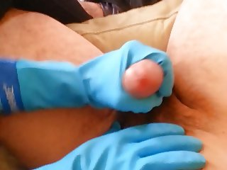 Rubber Gloves Handjob pt1