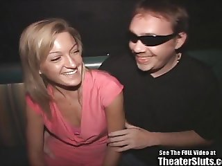 Small Tits Fit Blonde Gangbanged in Public