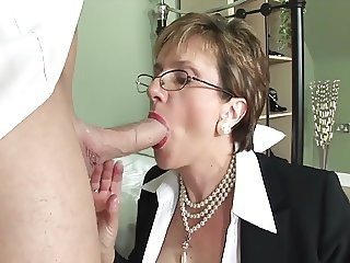 British lady passion on the bed