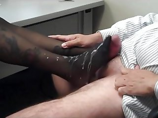 Nylon Footjob Fantasie Compilation 1