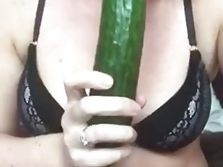 Cucumber fuck part 2