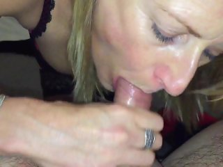 Wife ball & cock sucking