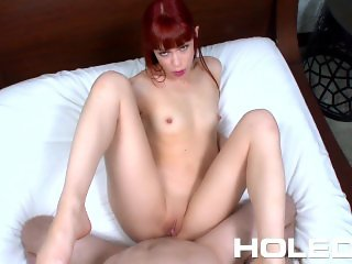 HOLED Red headed student Alexa Nova tries anal sex