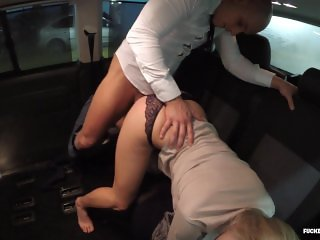 FUCKED IN TRAFFIC - Hungarian babe Christen Courtney loves dirty car sex
