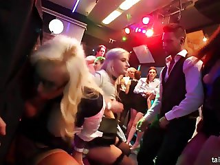 Excited pornstars fucks in club