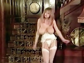 I LUV THE 80's - vintage big tits striptease stockings dance