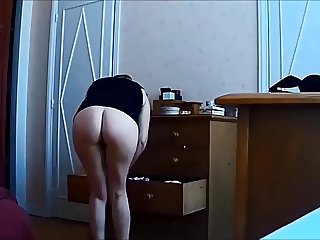 Compilation of my wife naked - hidden cam