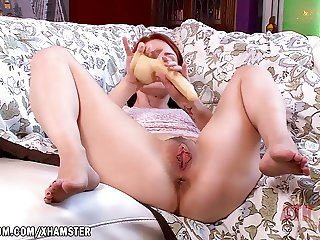 Violet Monroe has a huge fake cock for her pussy