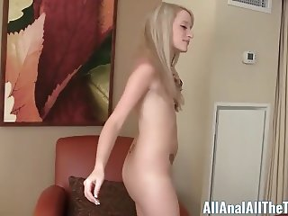 First Time Cutie Taylor Valentine takes it up the Ass!
