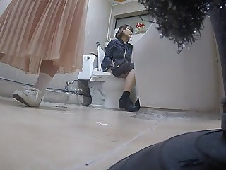 Korean girl using toilet part 4