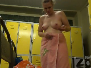 Women change clothes in the locker room 1304