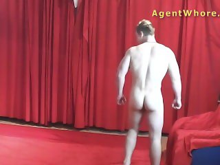 MILF agent whore gives sexy dance to young beginner