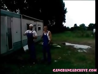 Gangbang Archive Real couples take part of 10 people gangban