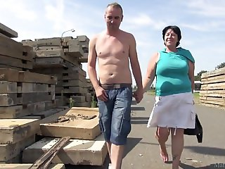 BBW Mature Outdoor Sex